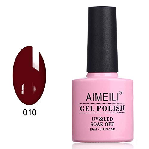 AIMEILI Soak Off UV LED Gel Nail Polish - Red Vixen (010) 10ml -