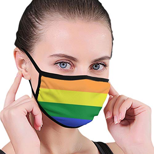 Women & Men Earloop Half Face Mouth Masks Mouth Mask Anti-Dust Mouth-Muffle - Comfort Windproof Outdoor Mouth Mask for Kids Youth Boys Girls (LGBT Pride Rainbow Flag)