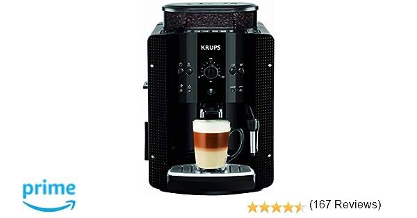 Krups Roma EA810870 - Cafetera Superautomática, 15 bares, molinillo de café cónico de metal, con selección de cantidad e intensidad de café, boquilla ...