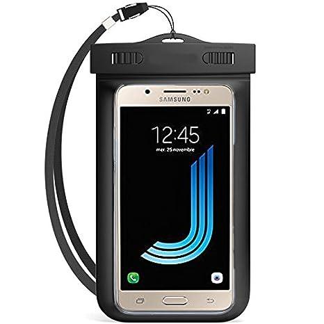 Semoss Universal Transparente Funda Impermeable IPX8 Carcasa para Samsung Galaxy J5 2016 Waterproof Bolsa+acollador para Esquiar,Nadar,Pescar,Lavar y ...