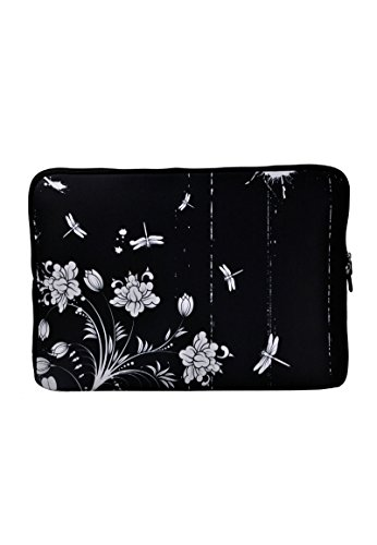 Laptophülle mit Blumen Blumen Libelle 14 zoll / Laptoptasche/ Notebooktasche/ Laptophülle/ Laptop Schutzhülle/ Notebook Tasche/ Laptop Sleeve CFoiUEtmx