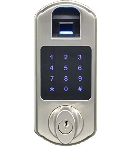 SCYAN D5 Fingerprint Touchscreen Keypad Deadbolt Lock Satin Nickel