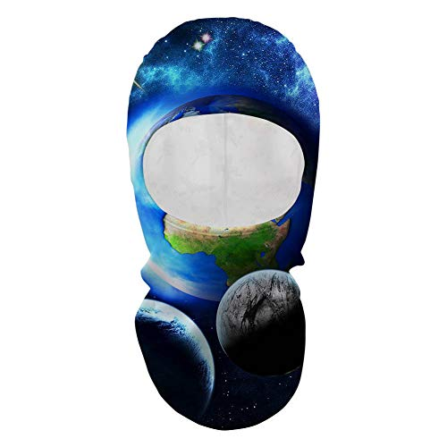 Coloranimal Outdoor Sports Women Men Full Face Mask Universe Space Galaxy Printed Balaclava Gini Ski Halloween Party Activities ()
