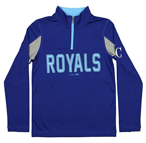 Outerstuff MLB Youth Boys 1/4 Zip Performance Long, used for sale  Delivered anywhere in Canada