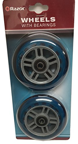 Core Elliptical - Razor Scooter Replacement Wheels Set with Bearings - Blue