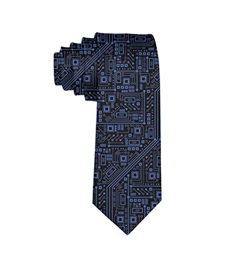 Men's Gift Printed Tie, Circuit Board Skinny Necktie Tie, Graduation Party Dress Tie (The Best Motherboard Brand)