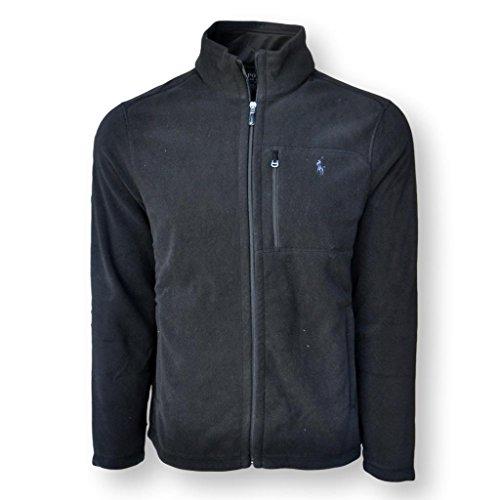 Polo Ralph Lauren Men's Performance Full Zip Fleece Jacket (L, Black) (Fleece Polo Jacket)
