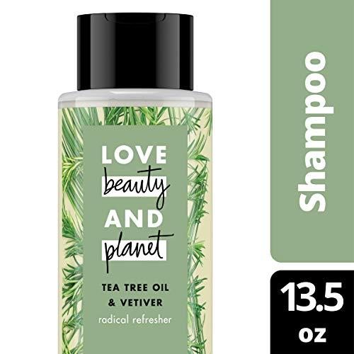 (Love Beauty and Planet Radical Refreshner Tea Tree Oil & Vetiver Clarifying Shampoo 13.5 oz)