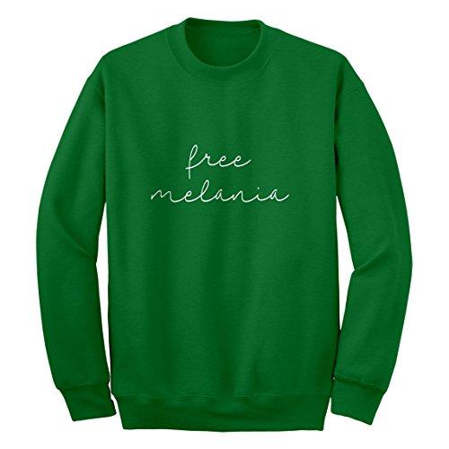 Indica Plateau Crew Free Melania Now Medium Kelly Green Sweatshirt