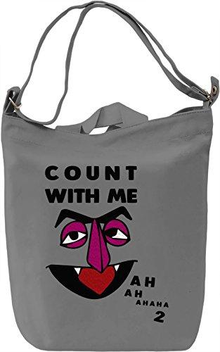 The Count Ah Ah Borsa Giornaliera Canvas Canvas Day Bag  100% Premium Cotton Canvas  DTG Printing 