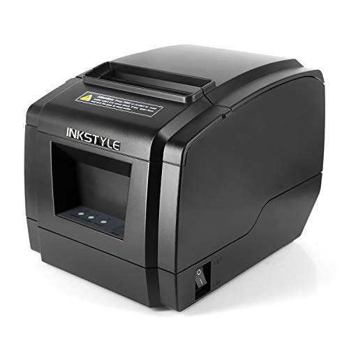 [USB + Bluetooth] INKSTYLE 80mm Thermal Printer Bluetooth Printer with High Speed Printing, USB Receipt Printer with Cash Drawer, Compatible with ESC/POS, Support Windows Linux System and Auto Cutter