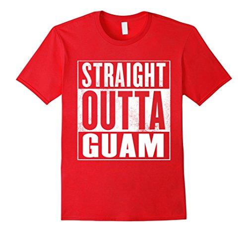 Mens Guam T Shirt   Straight Outta Guam Shirt Xl Red