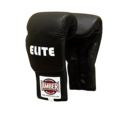 Amber Elite Fight Gear Pro Lace-Up Training Gloves, 16 oz. by Amber Sporting Goods Inc.
