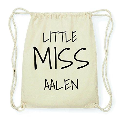 JOllify AALEN Hipster Turnbeutel Tasche Rucksack aus Baumwolle - Farbe: natur Design: Little Miss