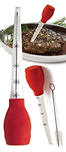 Turkey Chicken Poultry Meat Ham Stand Up Baster With Brush Set