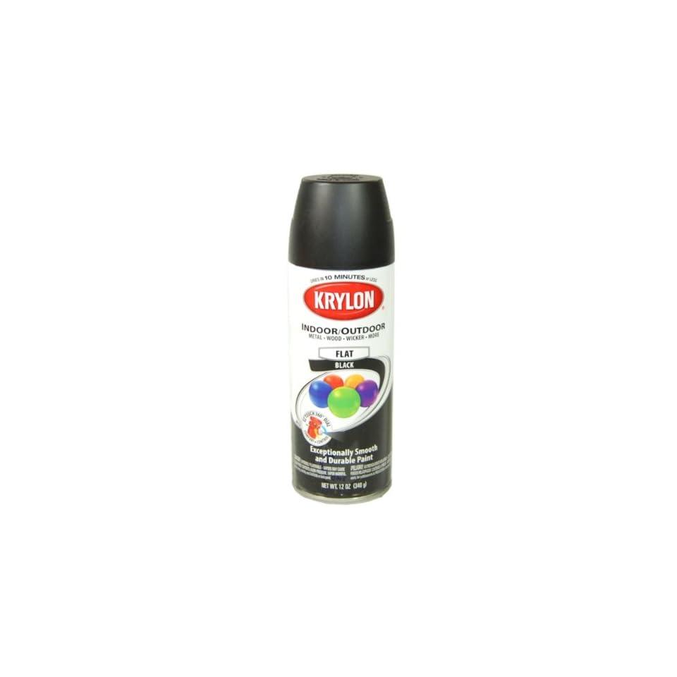 Krylon Flat Black Spray Paint 5 Ball Decorator Aerosol Paint