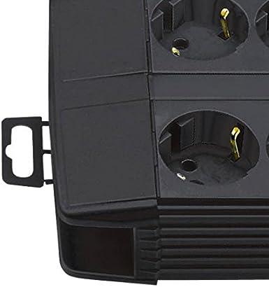 Steckdosenleiste 8-fach mit /Überspannungsschutz Brennenstuhl Premium-Line 3m Kabel und mit Schalter - inkl. auswechselbarer Sicherung Farbe: schwarz