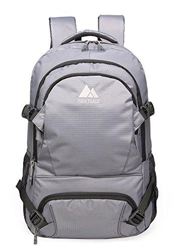 se Large Oversize Water Resistant Outdoor School Backpack (Grey) (Oversize Laptop Backpack)