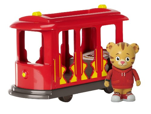 Daniel Tiger's Neighborhood Trolley with Daniel Tiger Figure]()