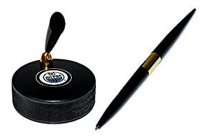 Edmonton Oilers Autograph Series Hockey Puck NHL Desk Pen Holder