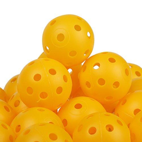 Andux 100 Golf Plastic Practice Balls Yellow KXQ