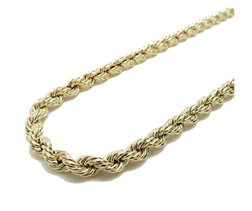10K Yellow Gold Italian Rope Chain 26'' 7mm wide Hollow by Melano Creation