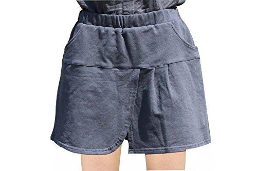 SANKE Pantalones cortos de gimnasia elástico para mujeres Negro