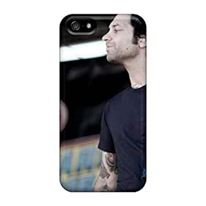 Protective Hard Phone Cases For Iphone 5/5s With Customized HD Rise Against Image ChristopherWalsh