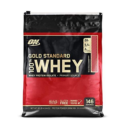 OPTIMUM NUTRITION GOLD STANDARD 100% Whey Protein Powder, Strawberry 10LB
