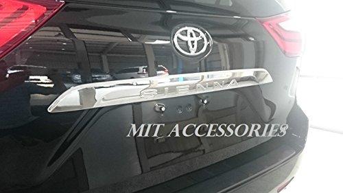 (MIT TOYOTA SIENNA 3rd Gen OEM rear trunk molding chrome garnish trim cover )