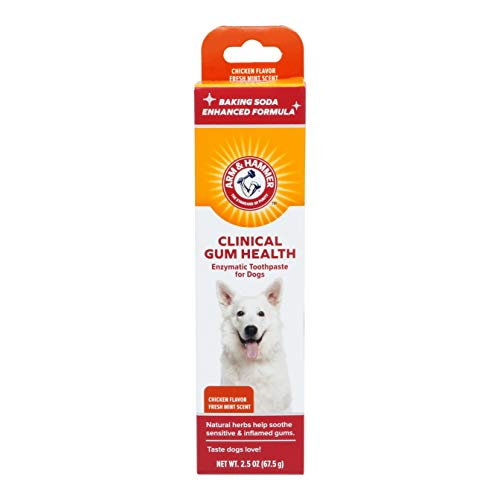Arm & Hammer Clinical Care Dental Enzymatic Toothpaste for Dogs | Soothes Inflamed Gums | Safe for Puppies, Chicken Flavor