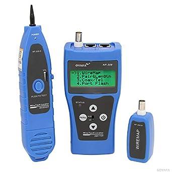 Noyafa 308B Multipurpose Display LCD red de Cable Tester perseguidor del alambre caza clasificación cable de