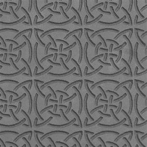 Cool Tools - Flexible Texture Tile - Celtic Squares - 4 X 2