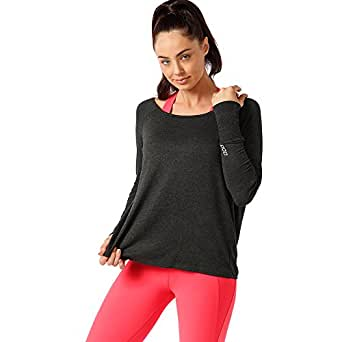 Lorna Jane Women Post Workout L/SLV Top, Char Marl, S