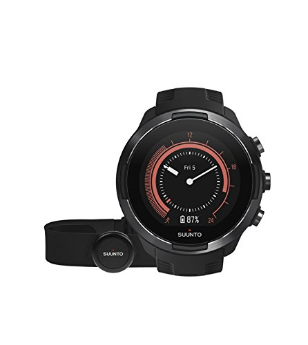 Suunto 9 Multisport GPS Watch with BARO and Wrist-Based Heart Rate (Black with HR Belt)