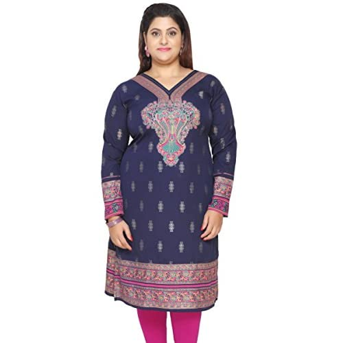 Maple Clothing Plus Size Womens Dress Indian Tunics Kurti Long Top