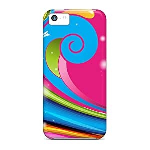 New Hard Cases Premium Iphone 5c Skin Cases Covers(rainbow Color Swirl)