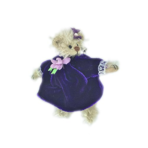 Deb Canham Bear in Purple Dress (Bear Pin) - 6th Year Anniversary