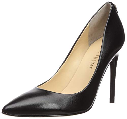 - Ivanka Trump Women's Kayden Pump, Black Leather, 8.5 Medium US