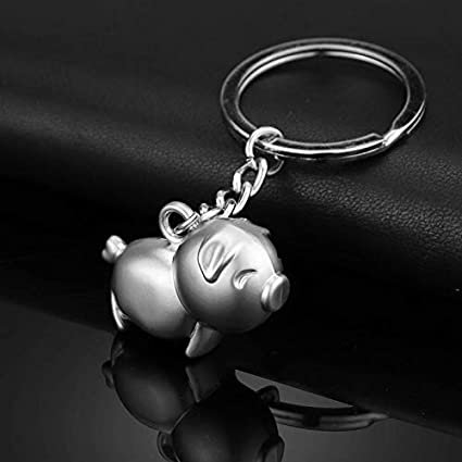 Amazon com: HeroStore Cute Pig Metal Keychains Customized