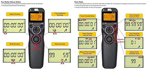 Pixel Timer Shutter Release TW283-N3 Wireless Remote Control for Canon 5D Mark III/ 5D Mark IV/ 5D 6D /7D Mark II/ 7D 50D 40D 30D D60 D30 D2000 by PIXEL (Image #3)