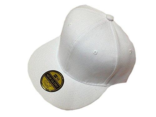 O'Keer 13 Colors Adjustable Unisex Purple Color Simple Snapback Sport Flat Brim Hip-hop Hat (White)