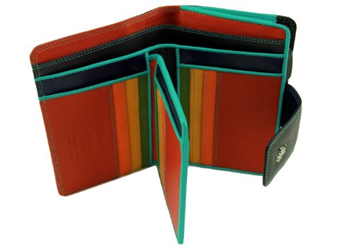 Visconti SP30 Bifold Multi Colored Soft Leather Wallet (Visconti Wall Street Green)