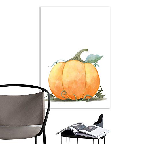 Art Print Paintings ModernWatercolor hand drawn sketch Pumpkin for Halloween or Thanksgiving festival isolated on white background Watercolor postcard illustration .jpg Living Room Wall Decor and Ho ()
