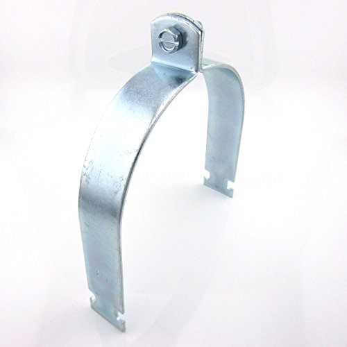 5in STD Pipe & Rigid Conduit Clamp; Zinc (25 per box)