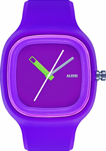 Alessi Kaj Watch (Alessi Unisex AL10015 Kaj Purple Polyurethane Strap Watch )