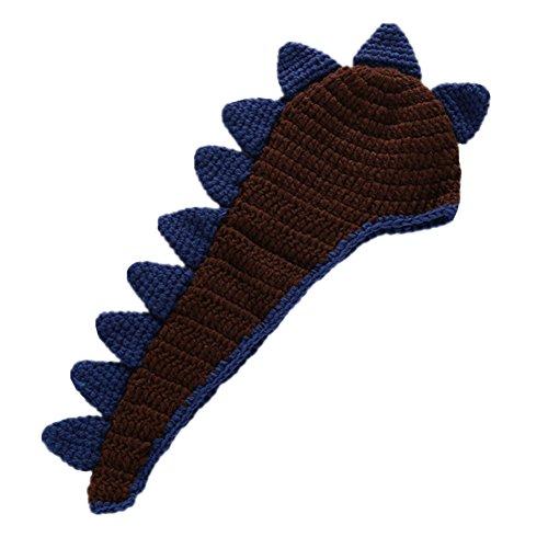 Fait Photo Cadeau Crochet Bambin Tricoté Props La Main Photographie Noir Bébé Hzjundasi À Dinosaurecostume vBqEwE6