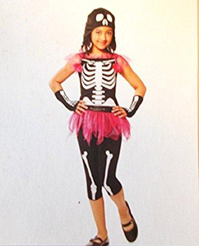 Target Costume Skeleton (Ghouly Bones Skeleton Tutu-dress Youth Costume (Medium)