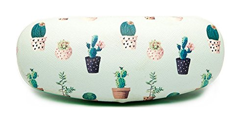 Eyeglasses Clamshell Hard Case Cactus Printed Cute Protective Holder - Glasses Hard Case