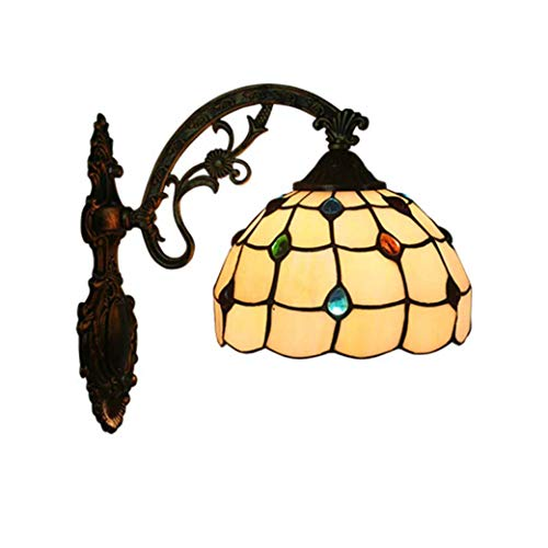 - Yd&h Tiffany Style Wall Lamp, Phoenix Tail Design Color Glass Wall Sconces, Bedroom Bedside Lamp Corridor Restaurant Study Cafe Wall Light,E27,Max40W